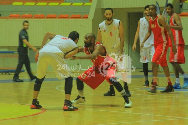 الاتحاد يتفوق على الأهلي بنغازي في نهائيات بطولة السلة للكبار
