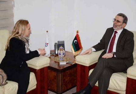 صنع الله يبحث مع نائب السفير الإيطالي لدى ليبيا سبل التعاون المشترك