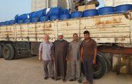 وصول مواد كيميائية لمحطة تحلية المياه بطبرق قادمة من محطة زليتن للتحلية