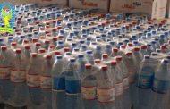الحرس البلدي بنغازي يضبط كميات من المياه المعدنية المستوردة داخل مصنع في بودزيرة