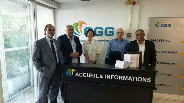 شركة الخليج تناقش مع شركة CGG الفرنسية العمل في مجال الاستكشاف النفطي