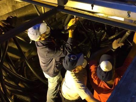 استمرار أعمال الصيانة في محطة