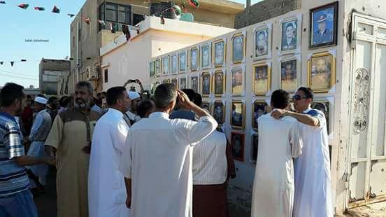 معرض لصور شهداء بنينا في أول أيام عيد الفطر المبارك