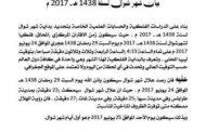 المركز الليبي للاستشعار عن بعد السبت آخر أيام شهر رمضان المبارك