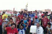 نادي المولودية طبرق يتوج ببطولة دوري كرة القدم المصغرة