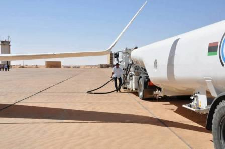 البريقة لتسويق النفط تعلن استعدادها لتلبية احتياجات الطيران في مطار بنينا الدولي من الوقود