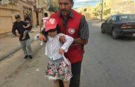 الهلال الأحمر يخرج العائلات العالقة من مناطق الاشتباكات بصبراتة