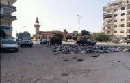 حملة نظافة في الشارع الرئيسي لميناء بنغازي