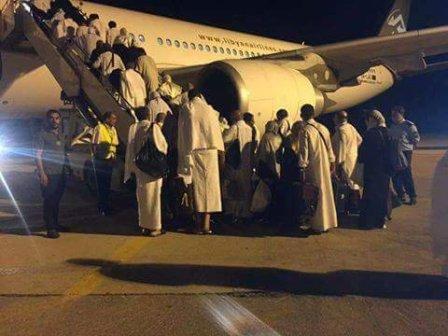مطار بنينا يستقبل أولى رحلات عودة حجاج بيت الله الحرام